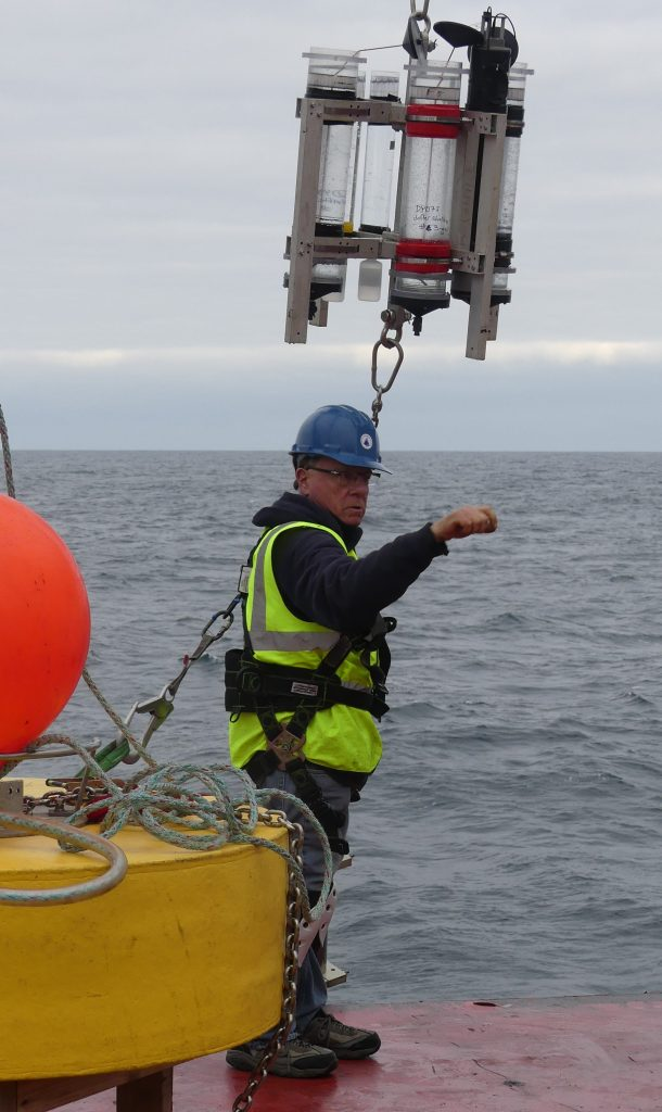 Steve Pike signalling to deploy the STT