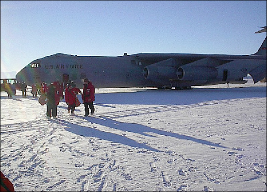 Arrival at McMurdo Station, Antarctica to join the Polar Star research vessel (photo by Peter Croot).